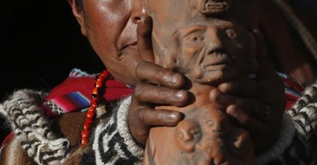 Bolivia caravan celebrates return of god of prosperity