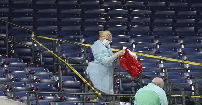 Turner Field US flag at half-staff after fan dies in fall