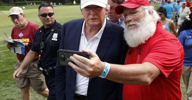 Trump makes an appearance at Barclays