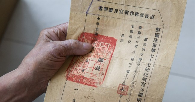 China gives little credit, or help, to Nationalist WWII vets