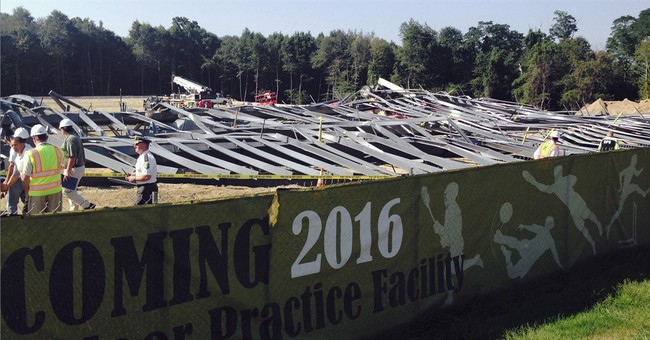 Facility being built at Rhode Island university collapses