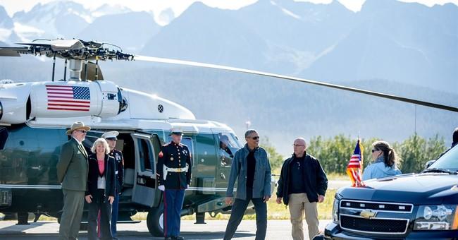 In climate bid, Obama stares down melting Alaska glacier
