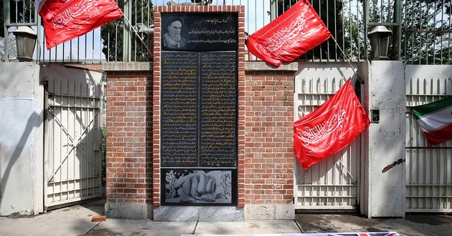 Iranian hard-liners unveil anti-US plaque at former embassy