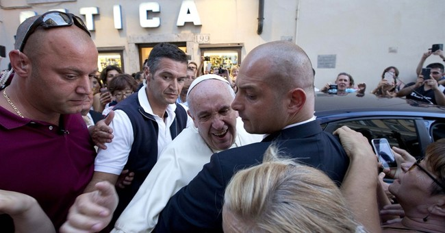 Pope pops out of Vatican, stop to get new glasses