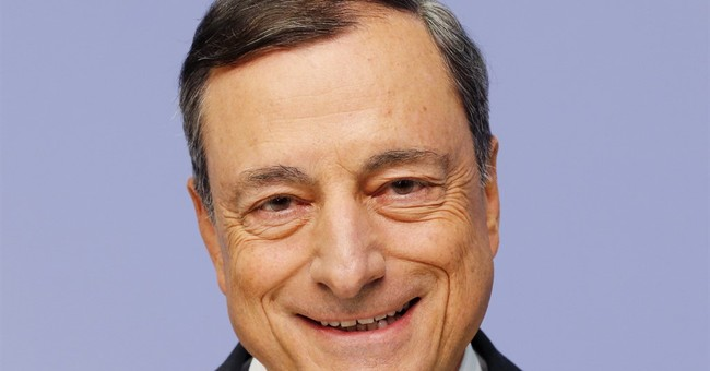 The Latest: ECB's Draghi says inflation target must stand