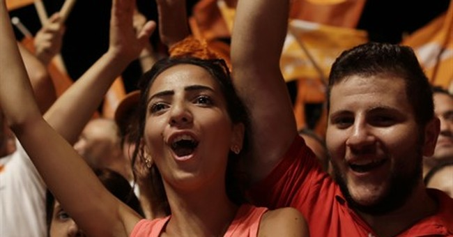 Supporters of Christian politician hold huge rally in Beirut