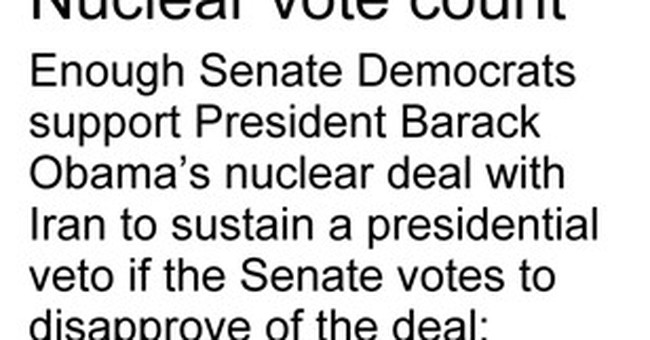 In a setback for Obama, Democratic senator opposes Iran deal