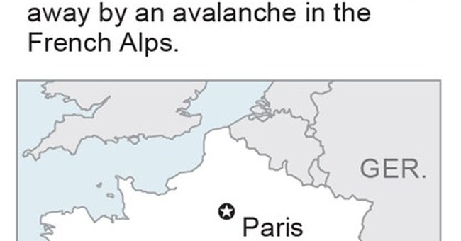 France finds bodies of 6 skiers buried by avalanche in Alps