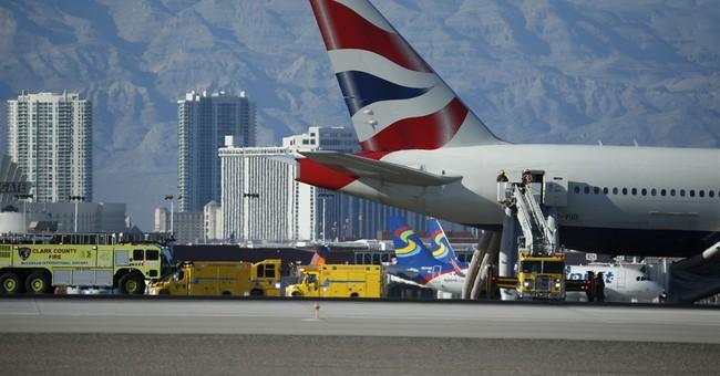 London-bound plane catches fire on Las Vegas runway