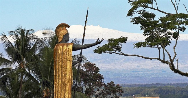 King Kamehameha statue's spear found on banks of channel