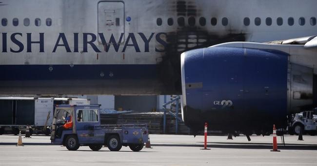 Jet engine parts on Las Vegas runway indicate major failure