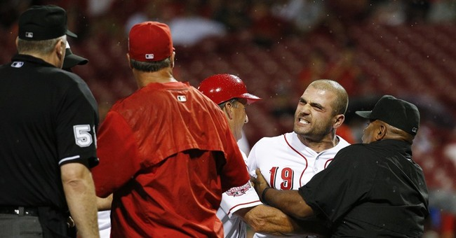 Reds star Votto mum on tantrum, no word on possible penalty