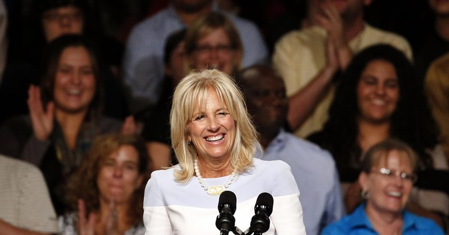 Jill Biden under klieg lights as she fronts for Obama
