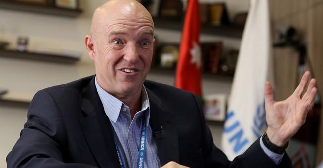 AP Interview: Refugee chief links aid crisis, Europe exodus