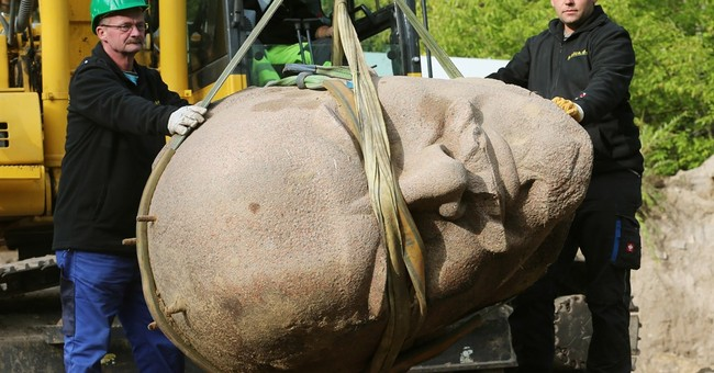 Berlin unearths granite head of Lenin after 24 years