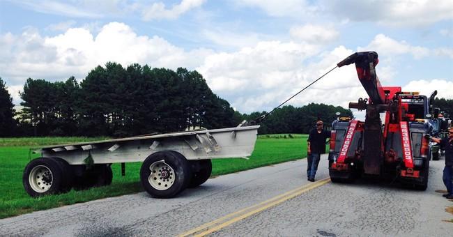 Amtrak train hits tractor-trailer in Virginia; none hurt