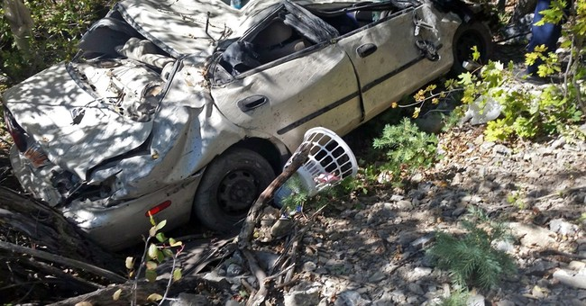 Couple finds injured Utah driver trapped in car for 2 days
