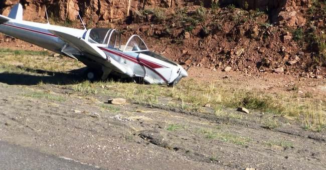 Pilot lands plane on treacherous section of Wyoming freeway