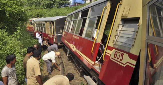 2 trains derail in India, killing 4, including 2 Britons