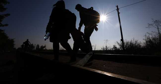Balkan immigrant rail tracks follow old Orient Express route