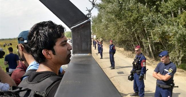 Hungarian police repel migrants at Serbian border