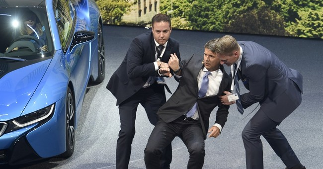 BMW CEO collapses during presentation at auto show