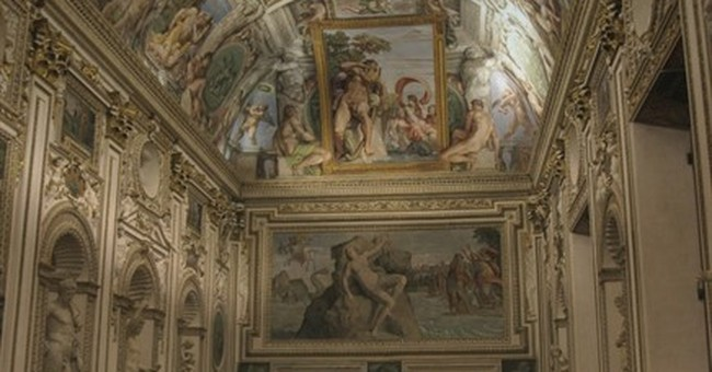 French embassy in Rome shows off frescoes after face-lift
