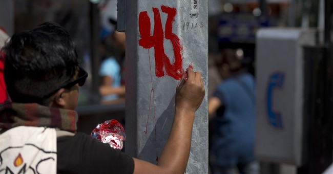 Mexico protest marks 4 months since students' disappearance