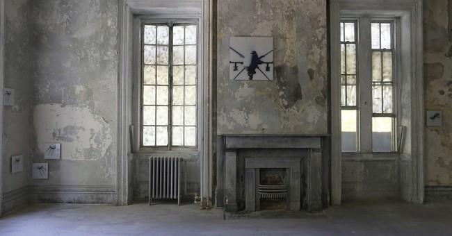 Derelict hospital becomes metaphor in NYC art installation