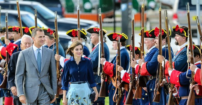 Spain's royals cheered on visit to St. Augustine, Florida