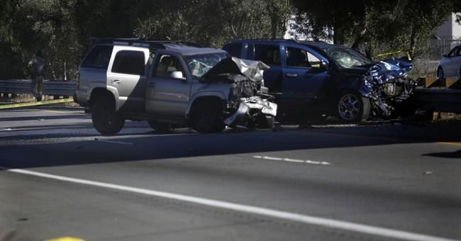Authorities say helicopter shot hit wrong-way driver