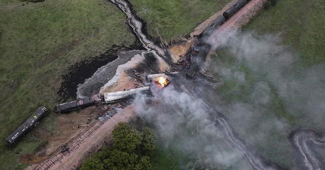 Investigators on scene where ethanol tankers derailed