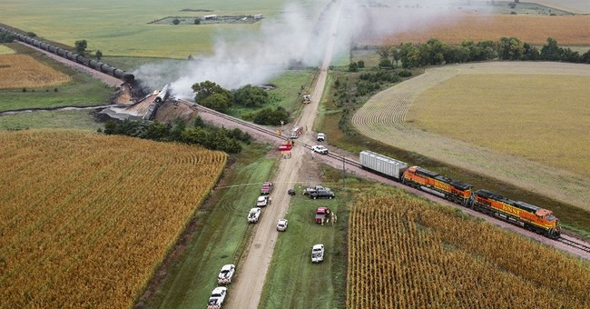 Ethanol tankers derail in South Dakota, at least 1 has fire