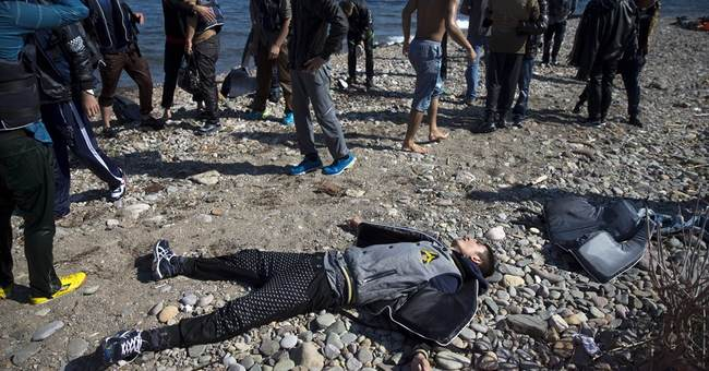 Greek coast guard searches for 26 missing migrants