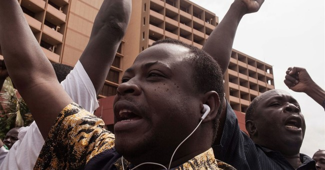 Burkina Faso demonstrators protest proposed compromise deal