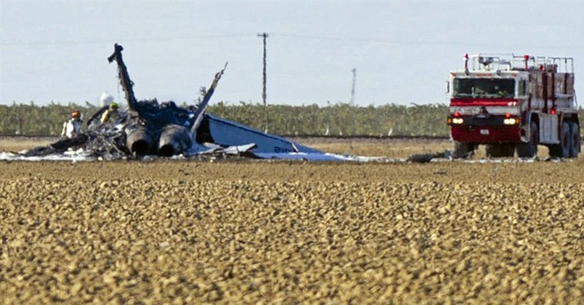 Navy fighter jet crashes in California; pilot ejected safely