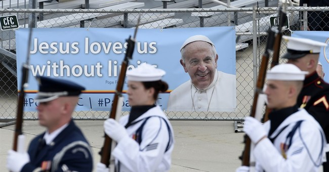 The Latest: Pope Francis about to welcome big US crowds