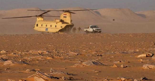 Egypt says military killed 10 militants in western desert