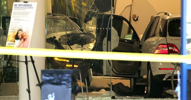 1 killed, 5 hurt after car smashes into California gym