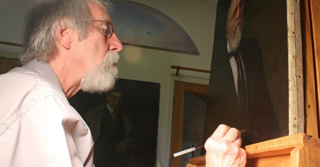 Illinois man refurbishes masterful paintings _ for free