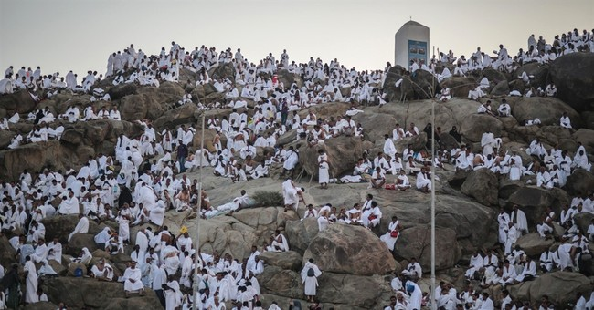 AP PHOTOS: Muslims come together for pinnacle of hajj