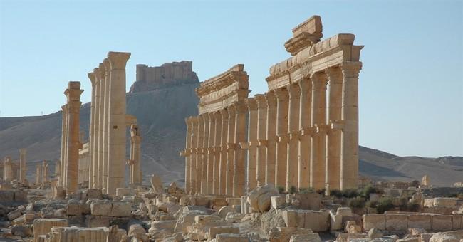 Syria government airstrikes pound IS-controlled Palmyra