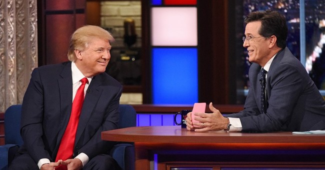 Stephen Colbert turns Donald Trump into his straight man