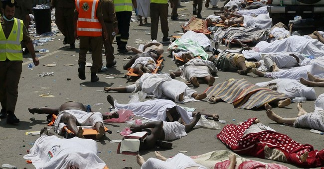 In a big crowd, as at the hajj, danger can come on quickly