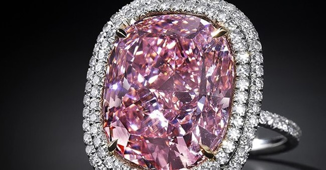 Stamp-sized pink diamond could bring $28M at auction