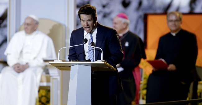 Mark Wahlberg gets in a 'Ted' joke while emceeing for pope
