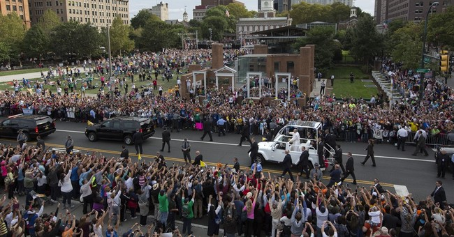 The Latest: Pope Francis wraps up first day in Philadelphia