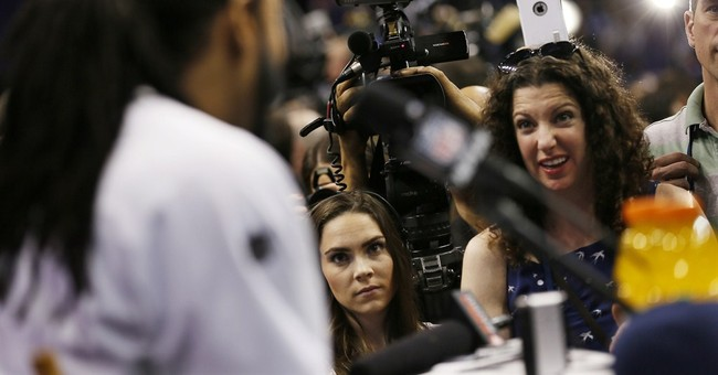 Column: Sherman provides some levity for this Super Bowl