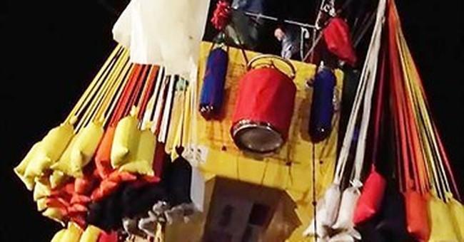 Balloon crew surpasses distance record in Pacific flight