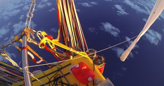 Balloon crew close to crossing Pacific Ocean